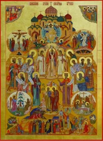 Икона Воскресения Словующего храма часовни на кладбище